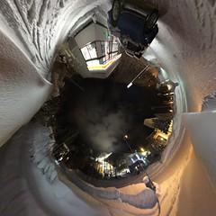 Mount Racey's Rabbit Hole (sjrankin) Tags: 24february2017 edited yubari hokkaido japan mountracey panorama honcho conveniencestore night skirun hotel 360degrees rabbithole