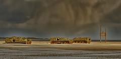 three in a row (hein van houten) Tags: vliehors vlieland sand dunes sky treatingsky