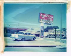 Williams, AZ (moominsean) Tags: polaroid 190 instant type669 expired082000 arizona williams southwest desert royalamericaninn car vintage motel route66