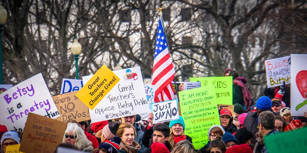 2017.01.29 Oppose Betsy DeVos Protest, W by tedeytan, on Flickr