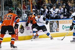 "Missouri Mavericks vs. Wichita Thunder, February 3, 2017, Silverstein Eye Centers Arena, Independence, Missouri.  Photo: John Howe / Howe Creative Photography • <a style=""font-size:0.8em;"" href=""http://www.flickr.com/photos/134016632@N02/32561328102/"" target=""_blank"">View on Flickr</a>"