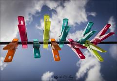Proyecto 75/365 (Art.Mary) Tags: bodegón stilllife naturemorte canon pinzas clothespins pinzasdelaropa colores colors couleurs proyecto365 cielo ciel sky nubes nuages clouds