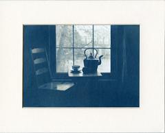 table at the window (2013) (Alexander Tkachev) Tags: alternativephotography altprocess cyanotype contactprint stilllife canson watercolor alexandertkachev