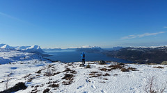 My world is blue and white. (Mrs.Snowman) Tags: hiking hills vassætra sykkylven norway westcoast cold wind sun