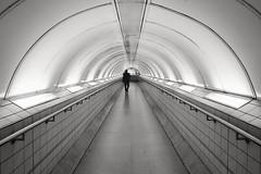 Anonymity (Douguerreotype) Tags: monochrome underground city bw uk arch metro gb tunnel british blackandwhite mono subway silhouette britain london england urban people tube bank