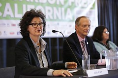 Julie cart, CALmatters, moderates Panel 4: Covering Climate Change #CARBONFREECA