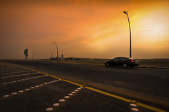 Another Gorgeous Sunset of March Mar-13-17 (Bader Otaby) Tags: sunset riyadh saco gas station road street king salamn kkia airport