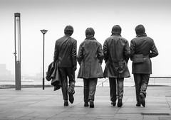 Beatles Take A Stroll At The Pier Head (stephenbryan825) Tags: beatlesstatue fab4 georgeharrison johnlennon liverpool paulmccartney pierhead ringostarr bronze selects
