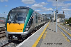 22025 at Portlaoise, 18/8/15 (hurricanemk1c) Tags: irish train rail railway trains railways irishrail rok rotem portlaoise 2015 icr iarnród 22000 22025 éireann iarnródéireann 4pce 1400heustoncork