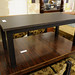 Dark wood rectangular coffee table