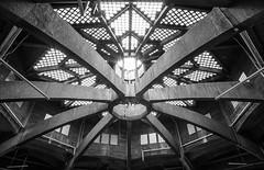 Nonagon** (trommler13) Tags: fuji von aachen architektur dach halle 1925 glasdach nonagon baudenkmal xt1 betonbau artfotografie samyang12mmf20 xf165528 lastkraftwagenhalle