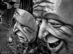Masquerade! Paper faces on parade ... (Kindallas) Tags: street brazil white black shop avenida mask masks paulo são paulista