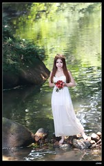 nEO_IMG_DP1U9717 (c0466art) Tags: light portrait sunlight white wet water beautiful female creek canon pose bride colorful asia bright princess little outdoor gorgeous dream clear attractive cloth charming elegant pure 1dx c0466art