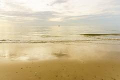 Morning Kiss from the Golden Beach (Bartholomew K Poonsiri) Tags: ocean morning travel light sea sky seascape beach water sunrise landscape thailand dawn asia southeastasia outdoor wave asie chaam asiedusudest sonyepz1650mmf3556oss sonyilce6000
