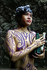 Ebook Queen (lucidRose) Tags: gold purple pacificnorthwest bodypainting cannonbeach bodyart pnw purpleandgold chelsearosearts