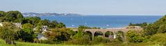 Pit Stop (Wander_bug) Tags: ocean uk blue sea england coast rocks britain cove walk coastal devon gb coleton fishacre daymark