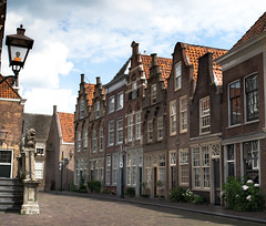 Where is everyone in the Dutch street? (marielledevalk) Tags: road street city houses holland building netherlands dutch architecture europe dordrecht the