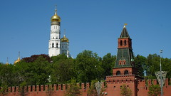 Moscow in May -    (Vladimir Kiryanov) Tags: old city trip travel blue vacation sky sun holiday building history church nature beautiful weather architecture river landscape spring amazing nice ancient pretty mood russia outdoor good walk moscow may bluesky lovely kremlin        suuny
