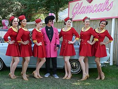 Glamcab Girls (Lazenby43) Tags: cortina carryon promogals goodwoodrevival2015