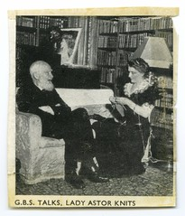 GB Shaw with Nancy Astor c.1917.