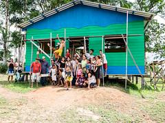 Igreja Evangélica no Lago Arara, na São José dos Araras, AM, Brasil