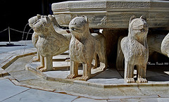 The Fountain of the Lions (mariagrandi985) Tags: architecturedetails alhambra granada spain lionsfountain water courtyardoflions sculpture mono monochromatic agua mariagrandi985 art culture