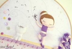 Welcome Emily! (Colori Preziosi) Tags: flowers cat ballerina doll felt dancer fabric feltro fiore gatto bonequinha quadretto telaio feltdoll bastidor embroideryframe quadrinhobastidor quadrettoaltelaio telaioperricamo gattofeltro feltroepannolenci