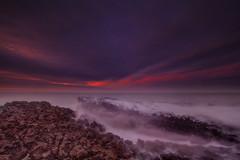 """ OGWR BLUE HOUR "" (Wiffsmiff23) Tags: ocean longexposure beach southwales sunrise rocks waves dramatic bluehour drama epic rugged ogmore ogwr traeth ogmorebysea heritagecoastlinesouthwales"