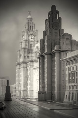 Timescale (Poondash) Tags: old blackandwhite building sexy heritage clock scale monochrome museum architecture liverpool canon three dock model mckay albert neil beatles liver liverbird davies mersey graces listed miniture merseyside scouser scouse 600d neildaviesmckay ndavmc
