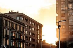 ((mig)) Tags: city sunset building atardecer gijn edificio ciudad xixn
