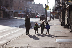 america ([Sharp]) Tags: street new york city morning shadow cold kids brooklyn america children photography holding hands photographer nanny babysitter dmv 2015