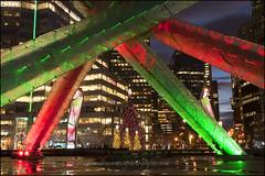Vancouver 0731 BC web (DAMON WEST www.damonwestphotography.com) Tags: christmas plaza xmas decorations canada vancouver bc van olympics xmastree olympiccauldron jackpooleplaza cityvancity