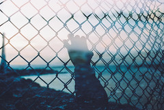 Leave A Trace (Louis Dazy) Tags: light sunset sea wild lighthouse house film nature water analog sunrise 35mm photography rocks exposure wiring hand grain double surimpression cinestill