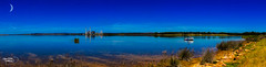 Lake Liddell (Thanks For Your Kind Support) Tags: sky panorama lake reflection pelicans water clouds canon landscape widescreen australia panoramic nsw 1855mm powerstation hdr huntervalley muswellbrook hunterregion kevinwalker lakeliddell canon1100d