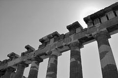 Parthenon restoration 1 (PhillMono) Tags: white black heritage history stone architecture temple nikon pillar ruin athens parthenon greece restored restoration preserved marble dslr acropolis athena d7100