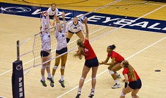 Dayton #4 Jessica Sloan hitting (cmfgu) Tags: pennsylvania pa statecollege universitypark pennstate psu maincampus rechall womens womans volleyball daytonflyers villanovawildcats ladys ladies match ball court athletes athletics sports net indoor team playoffs tournament ncaa jessicasloan hitting spike kill craigfildesfineartamericacom