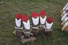 santas (MariaAlmeida15) Tags: santa wood xmas red white black cute beautiful kids children outside time little spirit like made claus lovely smells