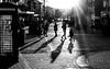 2017_001 (Chilanga Cement) Tags: fuji fujix100t x100t xseries x100s x100 monochrome ormskirk sunlight sunshine people shadows phonebox rays cobblestones newyearsday 2017 photoaday