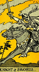 Knight of Swords (~ Lone Wadi ~) Tags: tarot tarotcards fortunetelling blackmagic occult retro 1910s sorcery