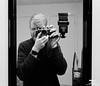 Selfie (mynameisAirport) Tags: leica leicam6 m6 kodak leicacraft tmax kodaktmax zeiss zeisszmbiogon28mm zeisszm selfie flash vivitar monochrome analog black white blackandwhite mirror mirrorshot mirrorpic
