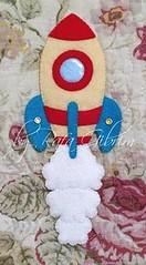 Marca página de foguete (Feito a mão [by Rafa]) Tags: feltro fieltro felt rafagibrim fofo cute enfeite presente lembrança artesanato marcapágina foguete astronauta espacial