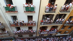 Calle Estafeta with all the balconies!