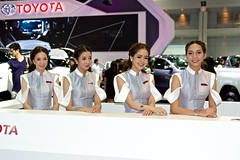 The beautiful presenters for Toyota at the 33rd Thailand International Motor Expo at IMPACT Challenger in Mueang Thong Thani, Nonthaburi, Thailand (UweBKK (α 77 on )) Tags: thailand southeast asia sony alpha 77 slt dslr beautiful girsl women woman presenter model dress fashion 33 33rd international motor expo exhibition fair impact challenger mueang thong thani nonthaburi bangkok toyota brand car cars automobile automotive auto