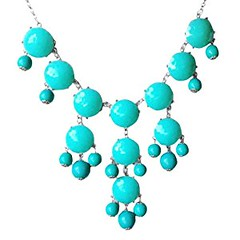 Turquoise Bubble Necklace in Silver Tone (Fn0508-S-Turquoise) (goodies2get2) Tags: amazoncom bestsellers under25