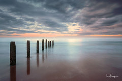 Blyth Beach (© Ian Flanagan) Tags: beach sunset sunrise seascape longexposure reflection groyne