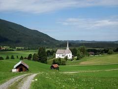 Kappelkirche (Hannelore_B) Tags: unterammergau kirche church landschaft landscape deutschland germany