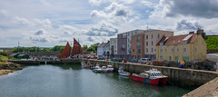 Saturday in St. Andrews (Lena and Igor) Tags: travel tourism europe uk unitedkingdom scotland standrews saintandrews marina water reflection sail clouds haven boats buildings architecture saturday coast island scenic city street dslr nikon d5300 tokina 1116 wideangle panorama panoramic sea ocean