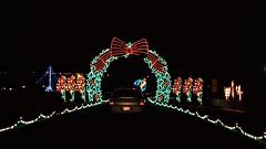 Wreath Arch 12 4 2016 (rbdal (Rick Dalrymple)) Tags: portlandinternationalraceway pir winterwonderland christmaslights christmasdisplay christmasdecorations december portland multnomahcounty oregon nikon d7000
