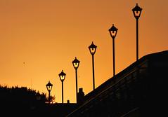 Don't let the sun go down on me (Peanut1371) Tags: sunset sky orange lights pier cleethorpes