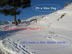 "A Happy and Healthy ""2017"" (Κώστας Καϊσίδης) Tags: newyear 2017 nature greece snow mountain sky wish mtpenteli"